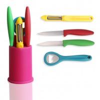 Кухонные ножи на подставке набор 5шт Stenson Lucky (MH0785)