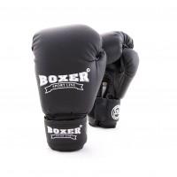 Детские боксерские перчатки из кожвинила Boxer 6 унций (bx-0021) черный