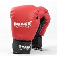 Детские боксерские перчатки из кожвинила Boxer 6 унций (bx-0021) красный