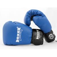 Детские боксерские перчатки из кожвинила Boxer 6 унций (bx-0021) синий