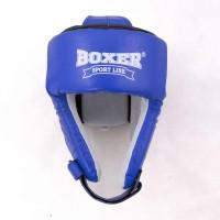 Профессиональный Боксерский шлем кожанный с печатью ФБУ Boxer L (bx-0045)