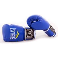 Перчатки боксерские Кожа PU Everlast (BO-3987) 10 унций Синий