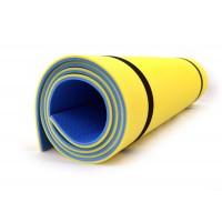 Коврик (каремат) универсальный для спорта и туризма Isolon Tourist 8 (Tourist_8)  Сине-желтый