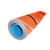 Коврик (каремат) для йоги, фитнеса и спорта OSPORT Profi 8мм (FI-0122-1) Сине-оранжевый