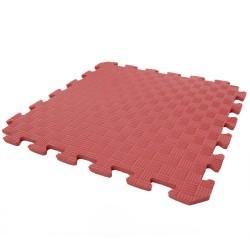 Детский игровой коврик-пазл (мат татами, ласточкин хвост) OSPORT 50cм х 50cм толщина 10мм (FI-0009) Красный
