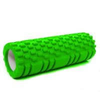 Валик (ролик, роллер) массажный для йоги, фитнеса (спины и ног) OSPORT (MS 1836) Салатовый