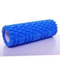 Валик (ролик, роллер) массажный для йоги, фитнеса (спины и ног) OSPORT (MS 1836) Синий