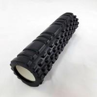 Валик (ролик, роллер) массажный для йоги, фитнеса (спины и ног) OSPORT (MS 1836) Черный