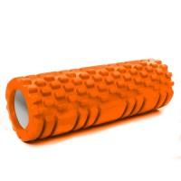 Валик (ролик, роллер) массажный для йоги, фитнеса (спины и ног) OSPORT (MS 1836) Оранжевый