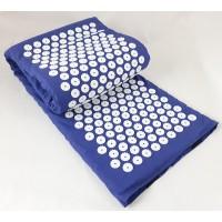 Большой Коврик массажный Аппликатор Кузнецова (акупунктурный массажер для спины и ног) 170х40 см (MS-1273) Синий