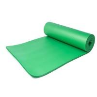 Коврик для йоги и фитнеса NBR (йога мат, каремат спортивный) OSPORT Mat Pro 1см (FI-0075) Зеленый