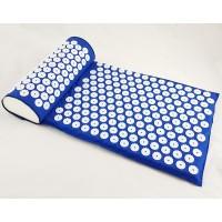 Коврик + подушка (валик) аппликатор Кузнецова Массажный массажер для спины/ног OSPORT (apl-012) Синий