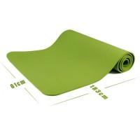 Коврик для йоги и фитнеса (йога мат) однослойный OSPORT TPE 182х61см толщина 8мм (MS 0616) салатовый