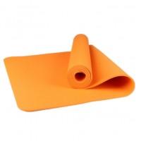 Коврик для йоги и фитнеса одноцветный TPE+TC 183х61х0.6см OSPORT (MS 0615) оранжевый