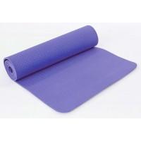 Коврик для йоги и фитнеса (йога мат) однослойный OSPORT TPE 182х61см толщина 8мм (MS 0616) сиреневый