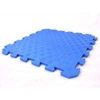 Детский игровой коврик-пазл (мат татами, ласточкин хвост) OSPORT 50cм х 50cм толщина 10мм (FI-0009) Синий