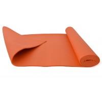 Коврик (мат) для йоги и фитнеса ПВХ OSPORT 6мм (MS 1184) Оранжевый