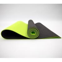Коврик для йоги и фитнеса TPE (йога мат, каремат спортивный) OSPORT Yoga ECO Pro 6мм (FI-0076) Черно-салатовый