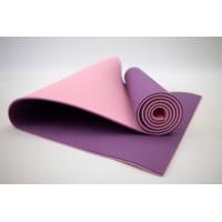 Коврик для йоги и фитнеса TPE (йога мат, каремат спортивный) OSPORT Yoga ECO Pro 6мм (FI-0076) Фиолетово-розовый