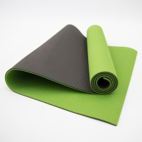 Коврик для йоги и фитнеса TPE (йога мат, каремат спортивный) OSPORT Yoga ECO Pro 6мм (FI-0076) Оливково-черный