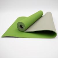 Коврик для йоги и фитнеса TPE (йога мат, каремат спортивный) OSPORT Yoga ECO Pro 6мм (FI-0076) Оливково-серый