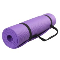 Коврик для йоги и фитнеса NBR (йога мат, каремат спортивный) OSPORT Mat Pro 1.5см (FI-0135) Фиолетовый