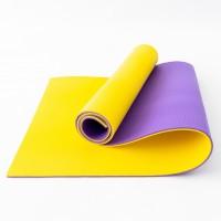 Коврик туристический (каремат походный и пляжный) OSPORT Tourist Pro 8мм (FI-0122-2) Фиолетово-желтый