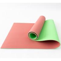Коврик (каремат) универсальный для спорта и туризма OSPORT Profi 8мм (FI-0122) Красно-зелёный