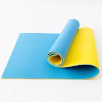 Коврик туристический (каремат походный и пляжный) OSPORT Tourist Pro 8мм (FI-0122-2) Желто-синий