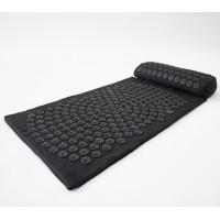 Массажный коврик и валик 2в1 (аппликатор Кузнецова) массажер для ног/спины/шеи/тела FitUp (F-00001) Черно-черный