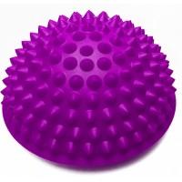 Полусфера массажная балансировочная (подушка массажер для ног и стоп) OSPORT (OF-0059) Фиолетовый