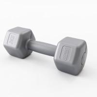 Гантели для фитнеса пластиковые цельные (неразборные) OSPORT Lite 2 кг (OF-0115) Серый