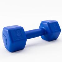 Гантели для фитнеса пластиковые цельные (неразборные) OSPORT Lite 2 кг (OF-0115) Синий