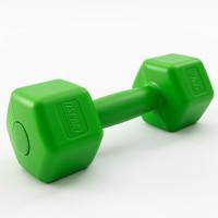 Гантели для фитнеса пластиковые цельные (неразборные) OSPORT Lite 2 кг (OF-0115) Зеленый