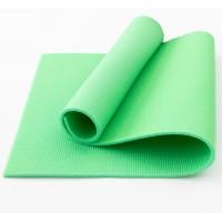 Коврик для фитнеса, йоги и спорта (каремат, мат спортивный) FitUp Lite 12мм (F-00014) Салатовый