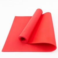 Коврик для фитнеса, йоги и спорта (каремат, мат спортивный) FitUp Lite 5мм (F-00008) Красный