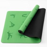 Коврик для йоги и фитнеса (йога мат) резиновый профессиональный OSPORT 5мм (MS 2898) Зелёно-черный