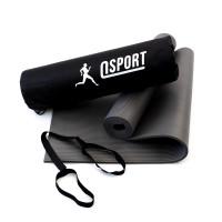 Коврик для йоги и фитнеса NBR + чехол (йога мат, каремат спортивный) OSPORT Mat Pro 1см (n-0011) Серый