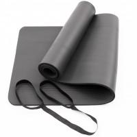 Коврик для йоги и фитнеса NBR (йога мат, каремат спортивный) OSPORT Mat Pro 1см (FI-0075) Черный
