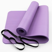 Коврик для йоги и фитнеса NBR (йога мат, каремат спортивный) OSPORT Mat Pro 1см (FI-0075) Фиолетовый