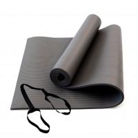 Коврик для йоги и фитнеса NBR (йога мат, каремат спортивный) OSPORT Mat Pro 1см (FI-0075) Серый