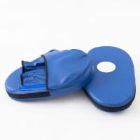 Лапы боксерские (для бокса) прямые из кожвинила OSPORT Lite (bx-0085) Синий