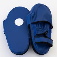 Лапы для кикбоксинга и тайского бокса прямые из кожвинила OSPORT Lite (bx-0086) Синий