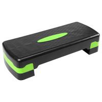 Степ платформа двухступенчатая (подставка доска-степ тренажер для аэробики, фитнеса) OSPORT (MS 0536-1) Черно-зеленый