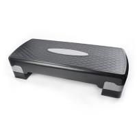 Степ платформа двухступенчатая (подставка доска-степ тренажер для аэробики, фитнеса) OSPORT (MS 0536-1) Черно-серый