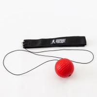 Тренажер fight ball (файт бол) мячик для бокса на резинке OSPORT Lite Plus (OF-0007) Красный