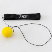 Тренажер fight ball (файт бол) мячик для бокса на резинке OSPORT Lite Plus (OF-0007) Желтый