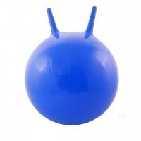 Детский мяч для фитнеса с рожками 45 см Profi голубой (MS 0380)