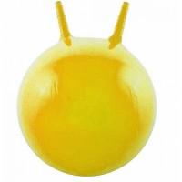 Детский мяч для фитнеса с рожками 45 см Profi желтый (MS 0380)