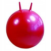 Детский мяч для фитнеса с рожками 45 см Profi красно-розовый (MS 0380)